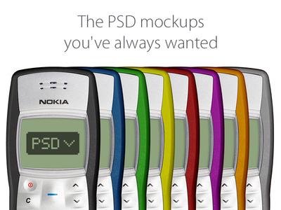 Nokia 1100 Mockup nokia 1100 mockup colors flat apple psd free