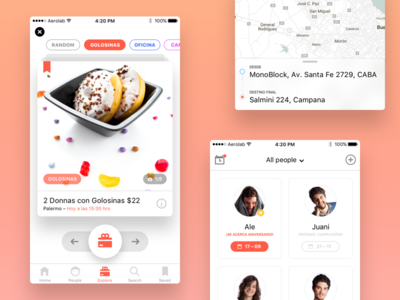 Coodle - Gift App people delivery tinder discovery aeroab iphone apple minimalism flat ios gift
