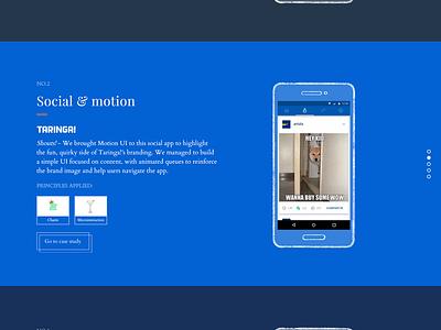 Motion UI Principles motion ui aerolab landing web design retro simple animation clean