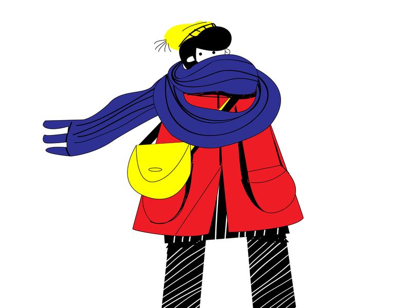 coat vectorart vector illustrator illistration art autumntime