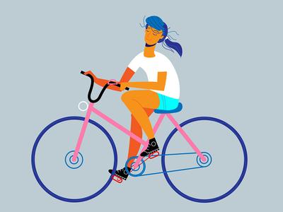 I love to ride a bike illustrator illustration art
