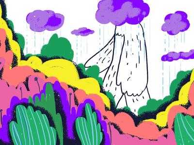 the spring is coming! sketchbook sketch spring time springrain spring photoshop illustration art
