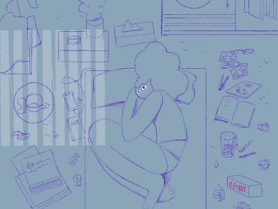 Insomnia character design photoshop illustrator character concept illustration art