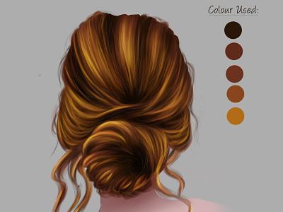 Digital painting of hair chandrani das art portait digitalart digital painting illustration graphic design chandrani das