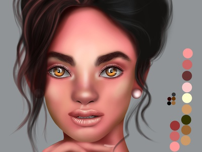 Digital face painting digital illustration design digitalart portait digital painting illustration chandrani das