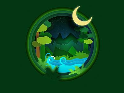 Mother earth papercut illustration mother earth illustration art illustrator papercut design vector illustration graphic design chandrani das