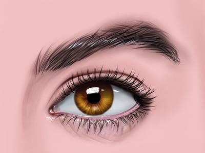 Eye Digital Painting! portait digitalart illustration chandrani das photo graphic design