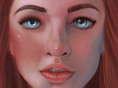 Digital Portrait Work in Photoshop. photoshop chandrani das portait por woman digitalpainting digitalart digital
