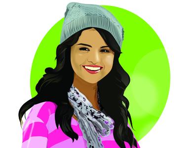 Vector drawing of Selena Gomez
