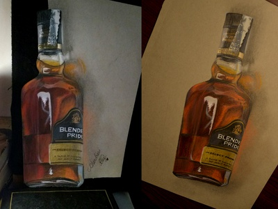 Drawing a bottle of Whiskey