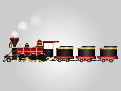 Cartoon Toy Train