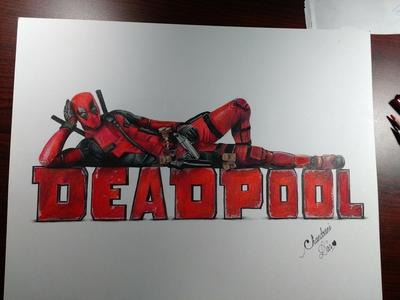 Drawing of Deadpool