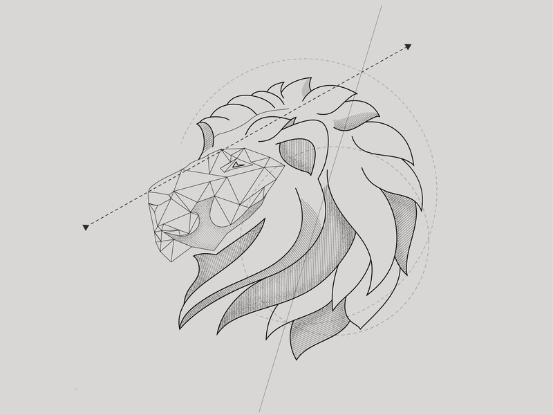 Abstract Lion illustration vector graphic design drawing chandrani das
