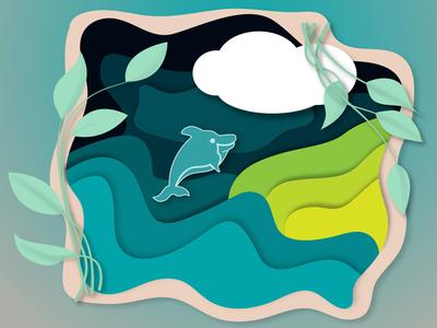 Paper Cut Illustration