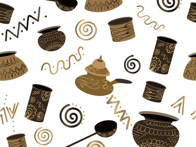 Ancient Utensils Pattern