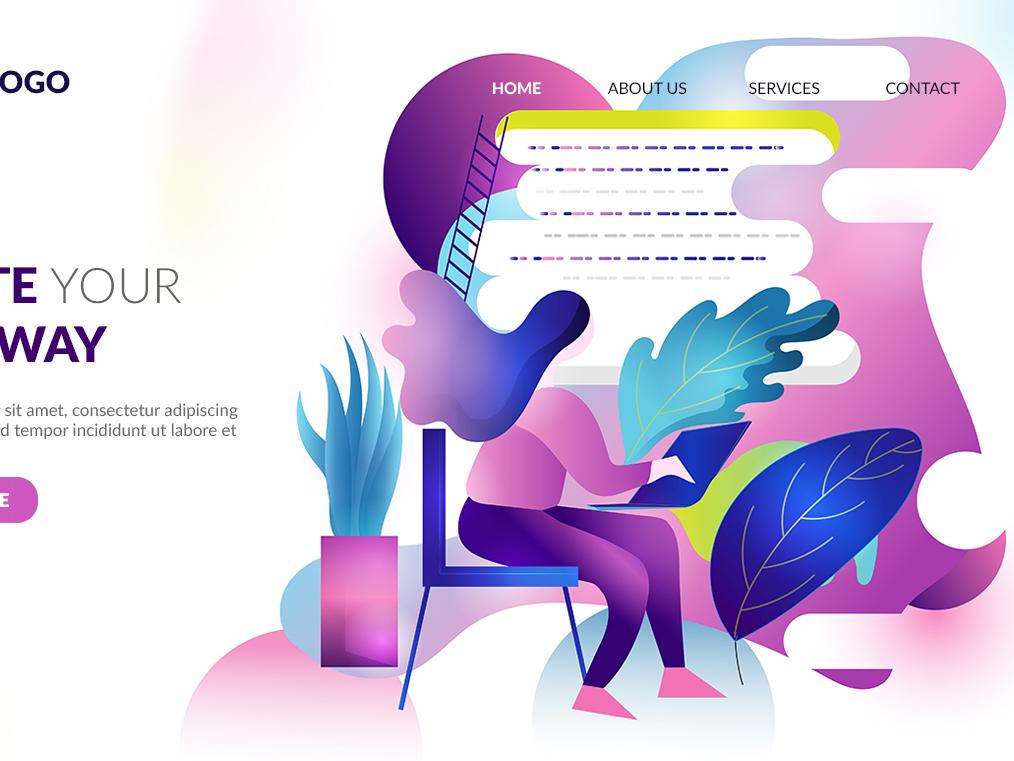 Web Illustration web illustration flat illustration design vector illustration graphic design chandrani das