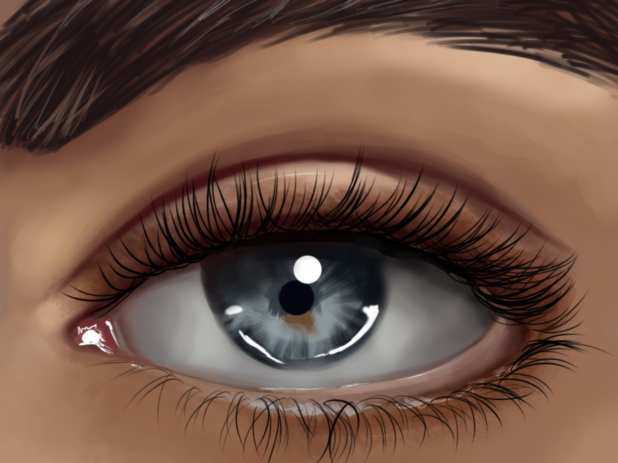 Digital Painting of an eye painting eye digital painting illustration drawing graphic design chandrani das