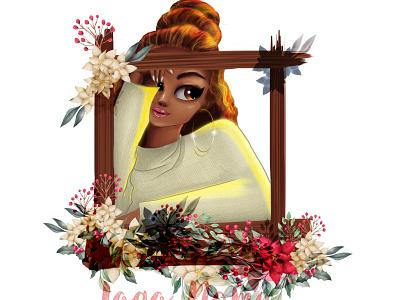 Woman digital painting cartoon portrait portait illustration digitalart design digital painting drawing graphic design chandrani das