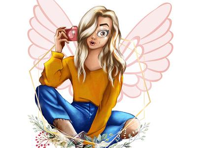 Cute girl digital illustration chandrani das art digitalart digital painting cartoon portrait portait drawing illustration graphic design chandrani das