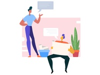 Discussion and planning - Landing page illustration