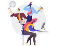 Working Professionals - Landing page illustration