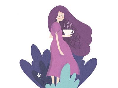 Princess Of Lavender lavender princess illustration vector adobe illustrator
