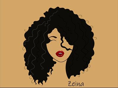 Self Portrait girl self-portrait dark red color change animation aftereffects adobe illustrator