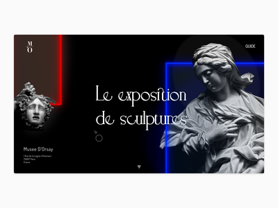 Musee D'Orsay - Le exposition de sculptures simple branding product page app ui typography minimal design
