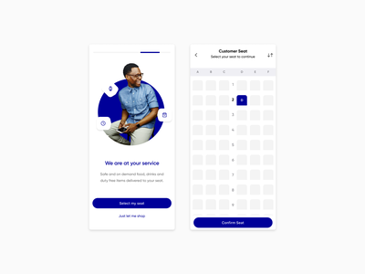 Airline onboarding - Exploration ux simple product page vector flat app ui typography minimal design