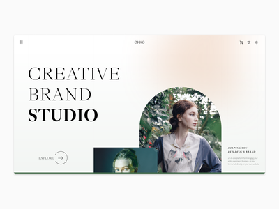 Simple brand page -- Exploration flat simple branding ui typography minimal design