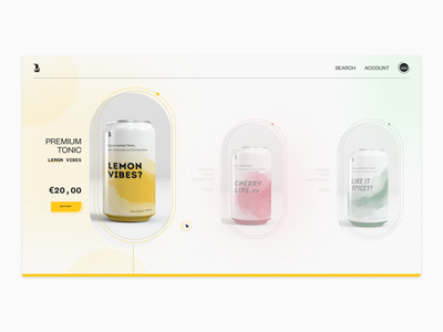 Product page -- Exploration product page simple branding vector flat ui app typography minimal design
