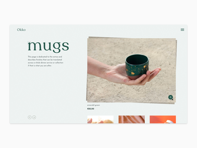 Product Page – Exploration product clean simple product page flat minimal design