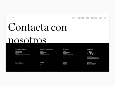 Footer - Exploration footer black and white vector simple flat ui typography minimal design