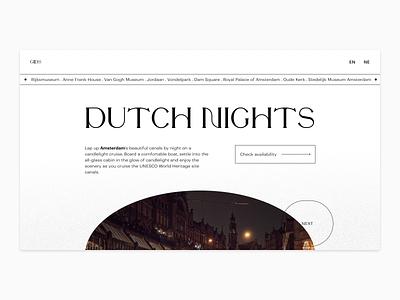 Tourism landing page - Exploration dutch landing page ui flat typography minimal design