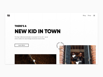 Coffee shop landing page - Exploration clean flat simple branding product page ui typography minimal design