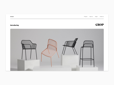 Product landing page - Exploration #1 ui clean simple product page flat typography minimal furniture design