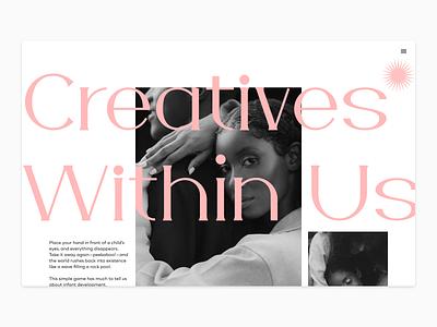Landing Page Exploration simple flat typography minimal design