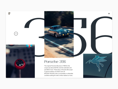 Porsche 356  exploration graphic design simple car ui typography design