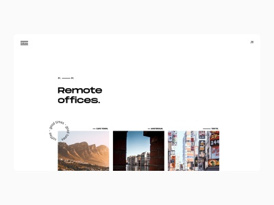 Our Offices exploration simple flat ui typography minimal design