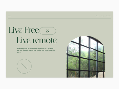Remote working space -- exploration #1 branding simple flat typography minimal design