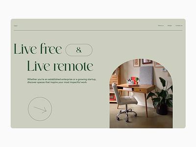 Remote working space -- exploration #3 freelance remote work ui simple motion flat minimal design