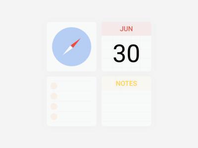 👨🏻🎨 Daily UI  #5 APP Icon - Minimal apple app icons