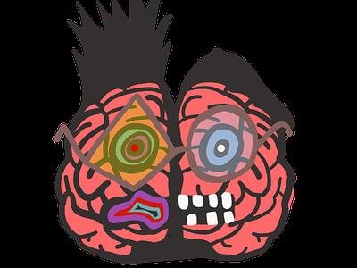 Left Brain && Right Brain illustration anatomy brain