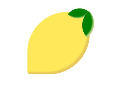 Lemon 🍋 emoji shapes images html css