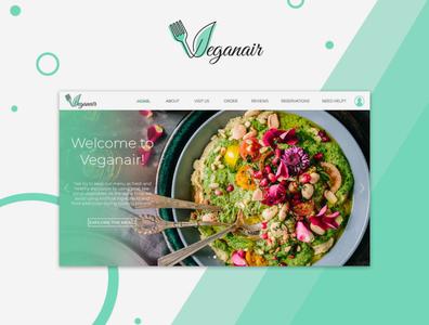 Veganair- A desktop website UI design