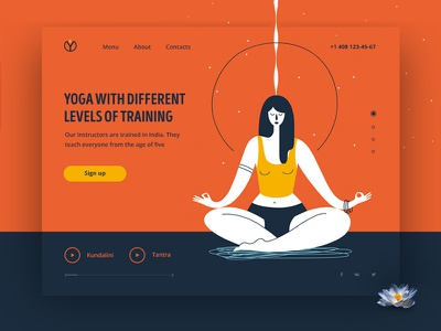 Yoga woman yoga yoga logo illustration design vector logo web design