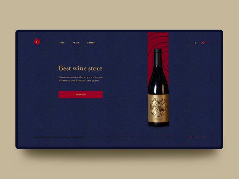 Wine store wine web design shop store design ui
