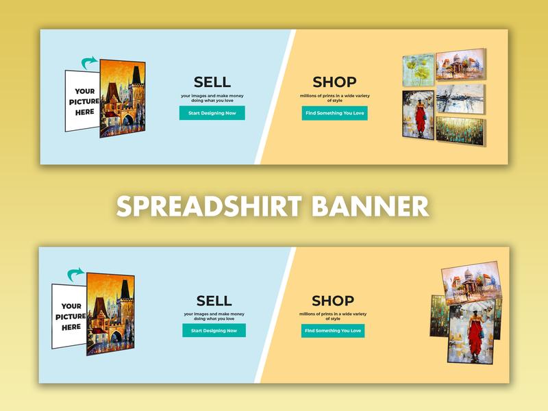 Spreadshirt Banner ui design illustrator cc banner ads banner ad