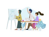 Company Meeting Illustration