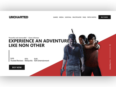 Uncharted Landing Page